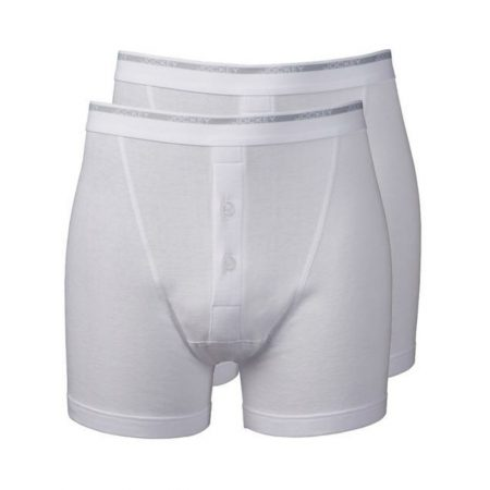 Jockey Modern Classic White Boxer Trunk Underwear 2-Pack