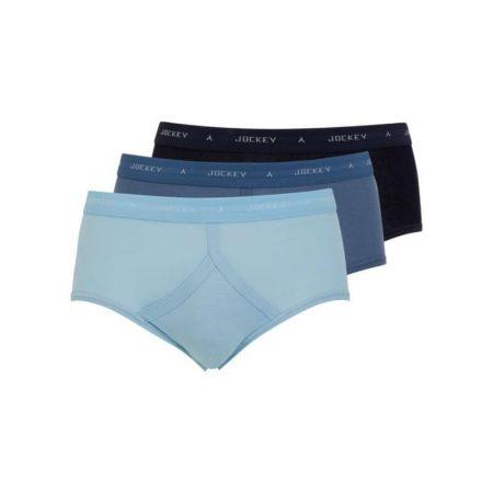 Jockey Classic Blues Y-Front Brief Underwear 3-Pack