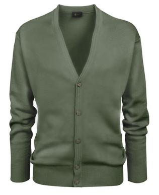 Gabicci Olive Plain Knitwear Cardigan