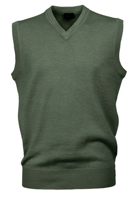 Gabicci Olive Sleeveless V Neck Slipover