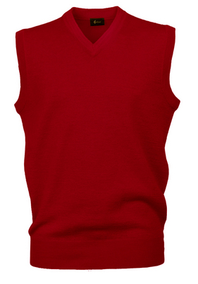 Gabicci Red Sleeveless V Neck Slipover