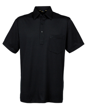 Gabicci Black Plain Button Polo Shirt
