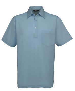 Gabicci Sky Plain Button Polo Shirt