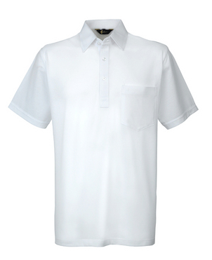 Gabicci White Plain Button Polo Shirt