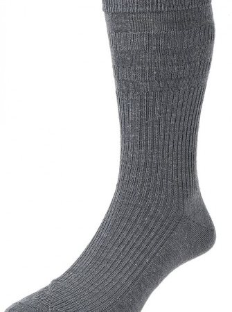 HJ Hall Softop Original Wool Rich Socks Grey-0