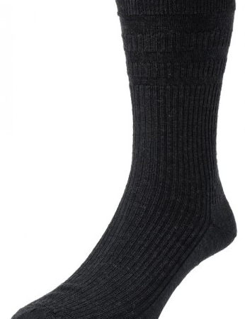 HJ Hall Softop Original Wool Rich Socks Black-0