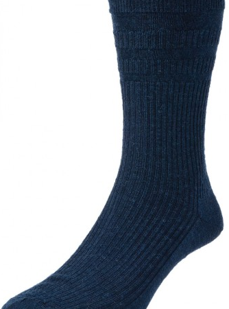 HJ Hall Softop Original Wool Rich Socks Navy-0