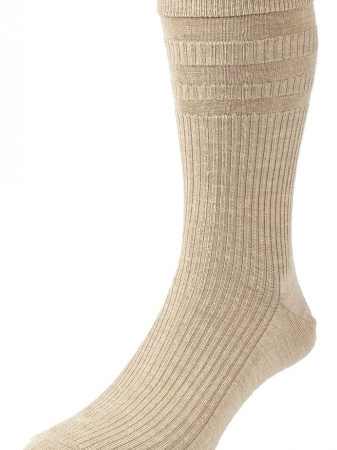 HJ Hall Softop Original Wool Rich Socks Oatmeal-0