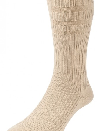 H J Hall Softop Original Cotton Rich Socks Oatmeal-0