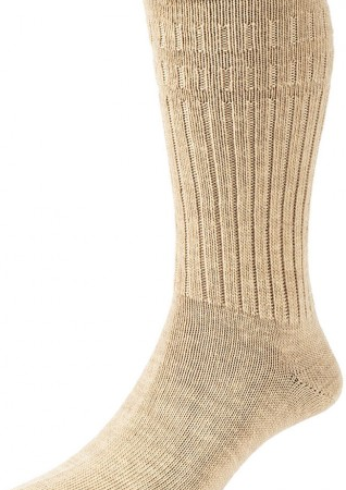 HJ Hall Softop Thermal Wool Rich Socks Oatmeal-0