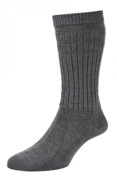 HJ Hall Softop Thermal Wool Rich Socks Mid Grey-0