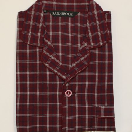 Rael Brook Pyjamas Burgundy Check-0