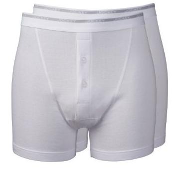 Jockey Modern Classic Boxer Trunk Underwear 2-Pack White-0