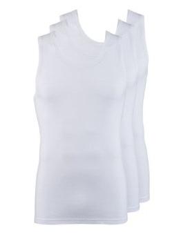 Jockey Classic Vest 3-pack White-0