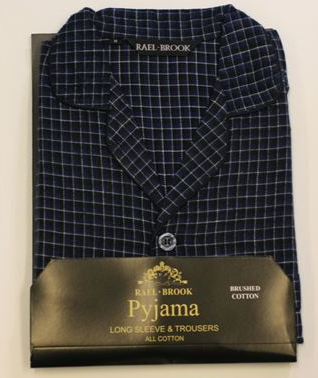 Rael Brook Pyjamas Navy Small Check-0