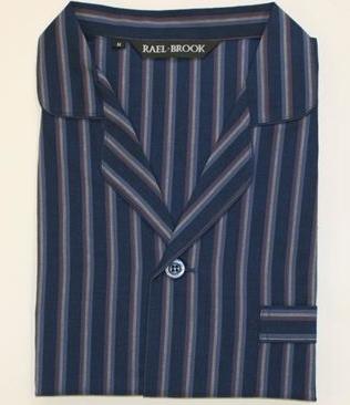 Rael Brook Pyjamas Navy Stripe-0