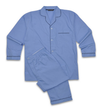 Rael Brook Plain Pyjamas Lt Blue-0