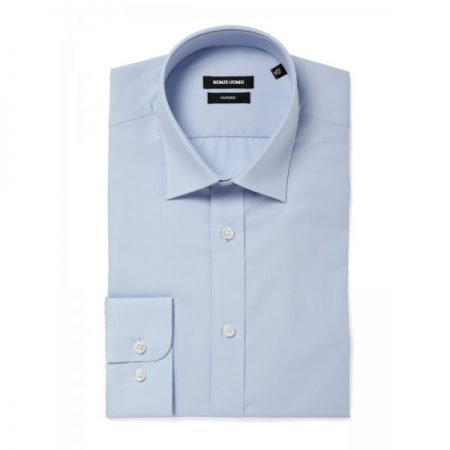 Remus Uomo Seville Tapered Fit Light Blue Shirt-0