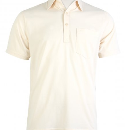 Gabicci Cream Plain Button Polo Shirt