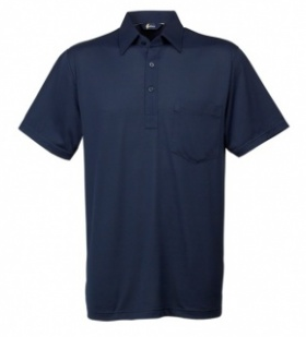 Gabicci Navy Plain Button Polo Shirt