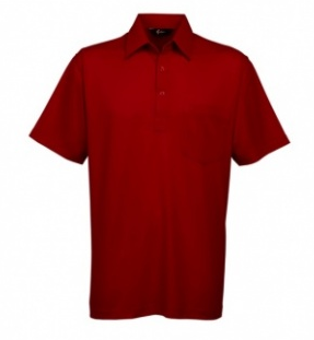 Gabicci Red Plain Button Polo Shirt