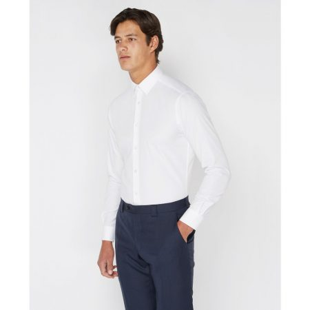Remus Uomo Slim fit Plain Shirt White