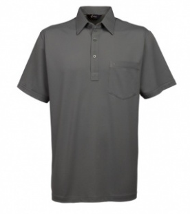 Gabicci Sage Plain Button Polo Shirt