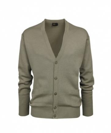 Gabicci Stone Plain Knitwear Cardigan