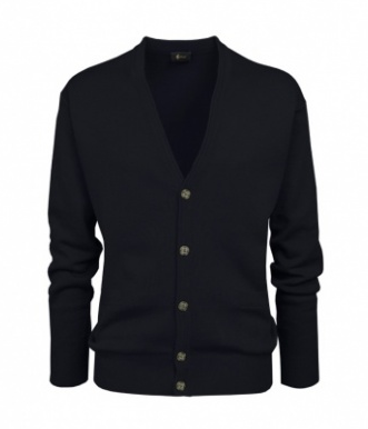 Gabicci Black Plain Knitwear Cardigan
