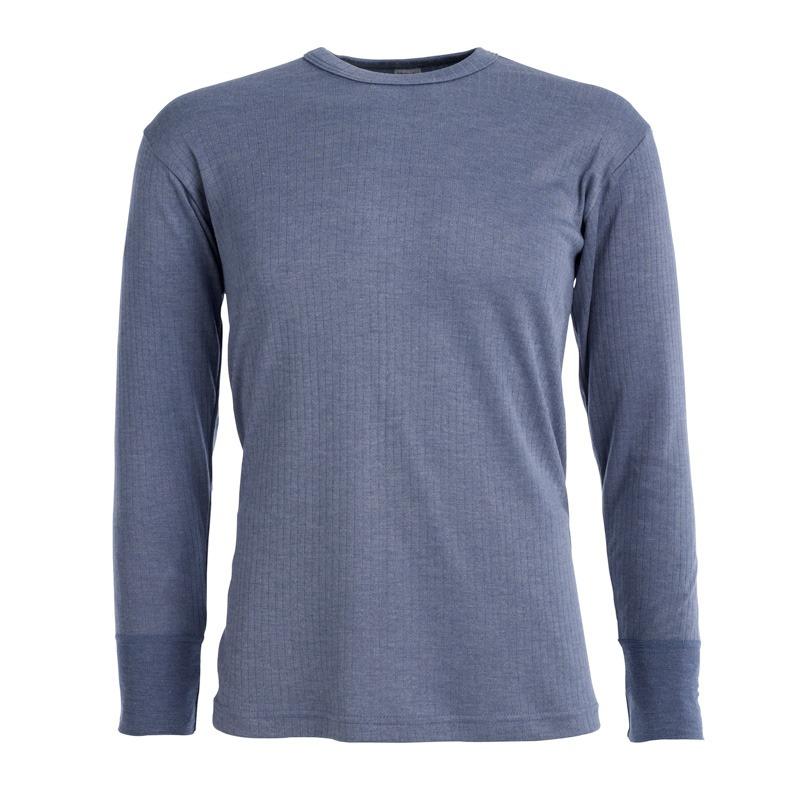 Morley long sleeve blue thermal t shirt