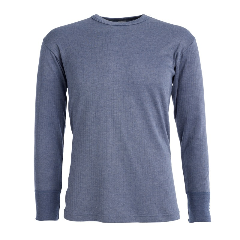 Morley long sleeve blue thermal t shirt
