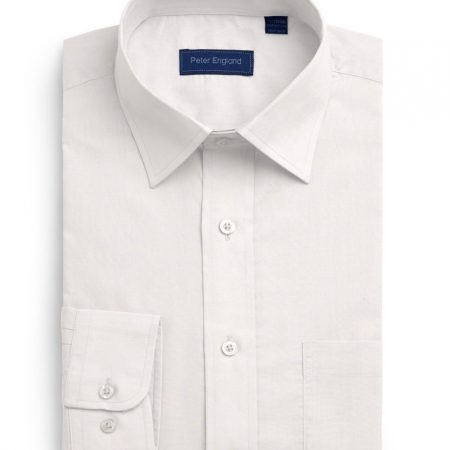 Peter England white non iron shirt-0