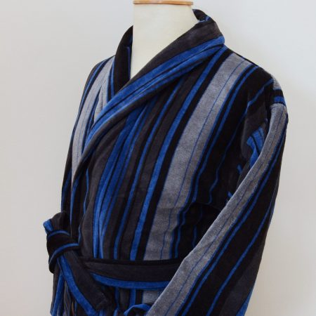 Bown of London striped velour dressing gown