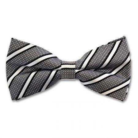 Sophos grey striped bow tie-0