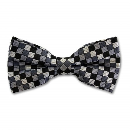 Sophos grey checker board bow tie-0