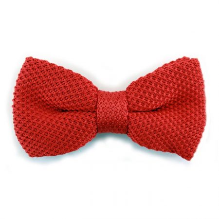 Sophos red knitted bow tie-0