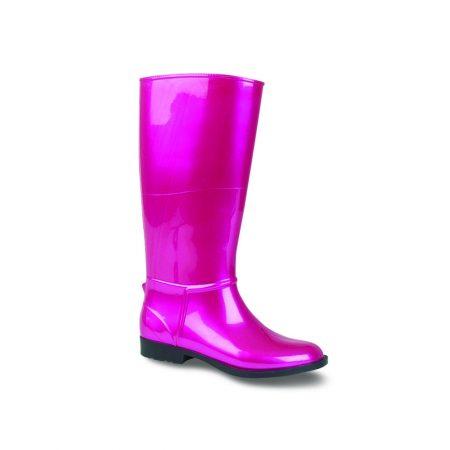 Lunar Moon Metallic Pink Fur Lined Wellington Boots