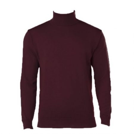 Peter Gribby bordeaux roll neck