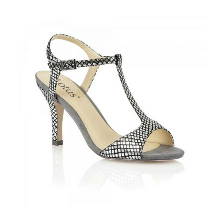 Lotus Julienna Pewter Heeled Sandals