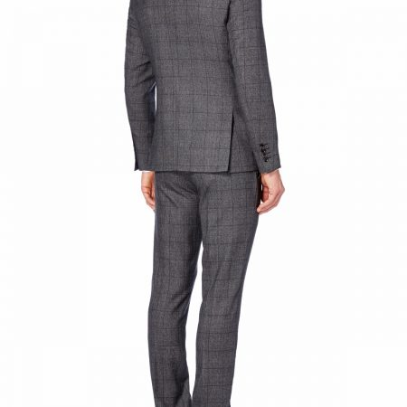 Slim fit wool-rich tweed check mix n match Suit