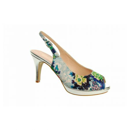 Capollini Kristyn Blue Floral Dress Shoes