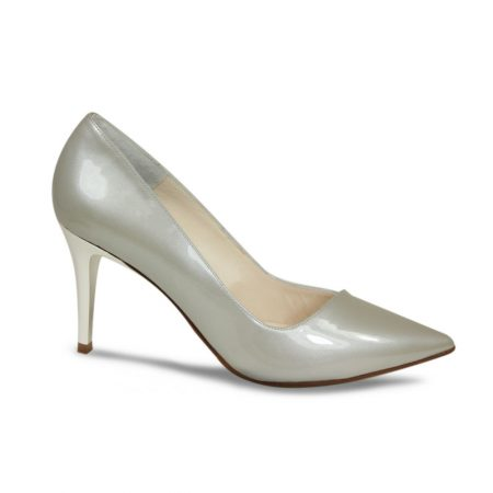 Lisa Kay Marilyn Silver Patent Leather Dress Shoes