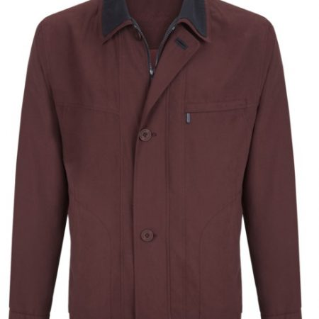 Wellington burgundy casual jacket