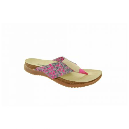 Adesso Zelma Pink Flat Toe Post Sandals