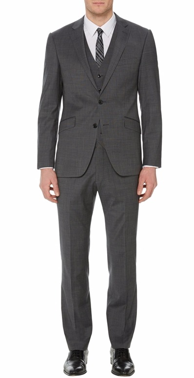 Remus Uomo mix & match 3 piece grey suit - Jacket