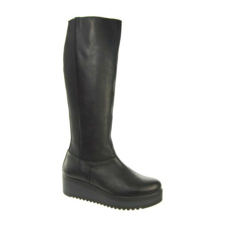 Adesso Erika Black Leather Knee High Boots