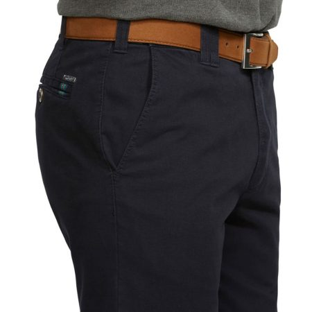 Meyer Oslo navy travel trousers