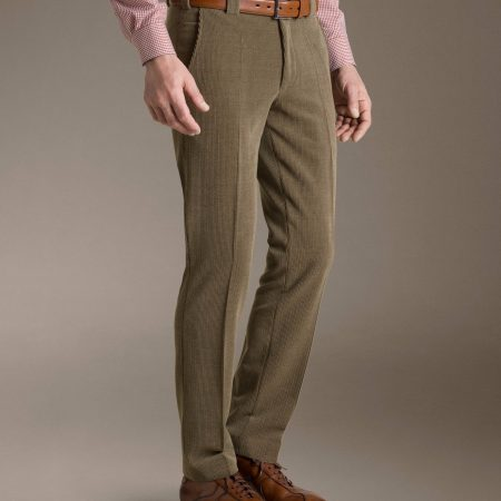 Meyer trousers Roma fawn wool mix stretch cords