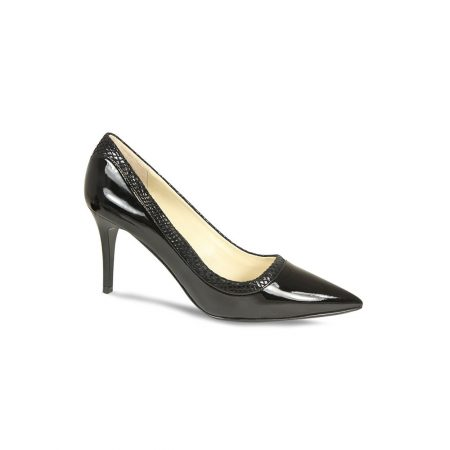 Lisa Kay Beatrice Black Patent Leather Heeled Shoes