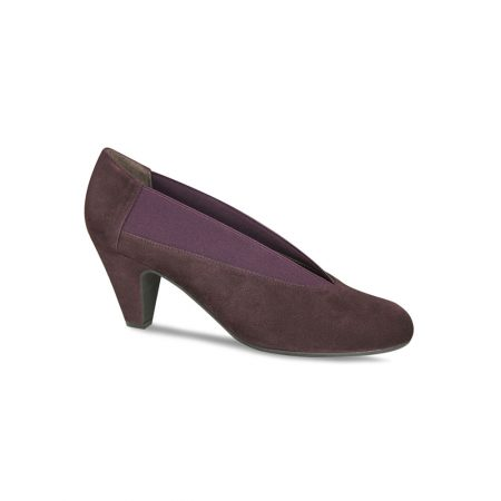 Lisa Kay Myrna Wine Leather Suede Dress Shoes